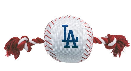 LA DODGERS  MLB Baseball Tug'n Chew Toy - Daisey's Doggie Chic