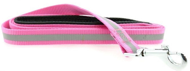 "Reflective Nylon Leash with Soft Grip Handle - 60"" Long x 3/4"" wide - Available in 6 colors - Daisey's Doggie Chic"