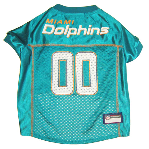 Miami DOLPHINS  NFL  dog Jersey in color Aqua Green - Daisey's Doggie Chic - 1