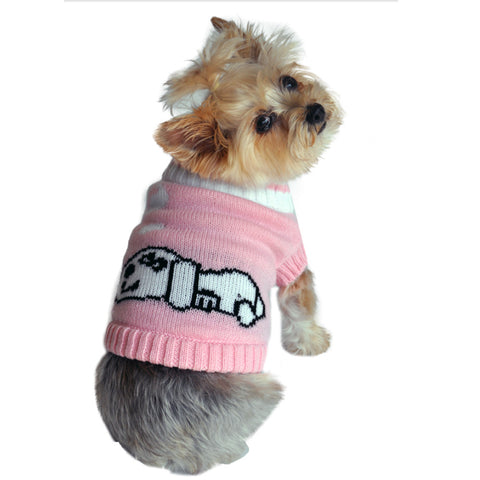 Doggie Design Dreaming Dog Sweater in Color Pink - Daisey's Doggie Chic