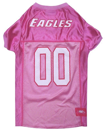 Philadelphia EAGLES NFL dog Jersey in color Pink - Daisey's Doggie Chic - 1