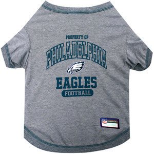 Philadelphia EAGLES NFL dog T-Shirt in color Gray - Daisey's Doggie Chic - 1