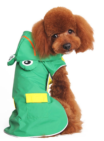 Froggie Hoodie Raincoat for Dogs in Color Bright Green - Daisey's Doggie Chic
