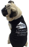 Game of Bones Themed Tank in color Black/SIlver - Daisey's Doggie Chic