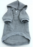 Fleece Lined Sport Sweatshirt Hoodie for Dogs in Color Heather Gray - Daisey's Doggie Chic