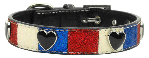Patriotic Hearts Ice Cream Collar - Daisey's Doggie Chic