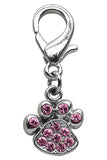 Designer Edition Pink Plaid Choke-Free Harness with Rhinestone Paw Charm - Daisey's Doggie Chic