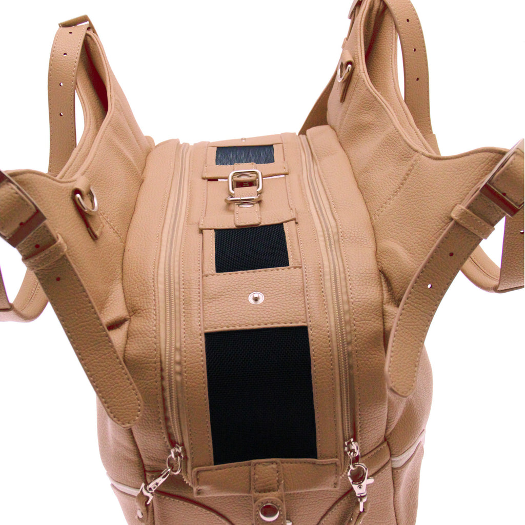 Madison Mia Michele Luxury Pet Carrier Bag in Mocha Pebble - also in Black or Caramel - Daisey's Doggie Chic