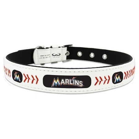 Miami MARLINS  MLB Leather Collar - Daisey's Doggie Chic