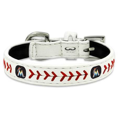 Miami MARLINS  MLB Leather Collar - Daisey's Doggie Chic - 2