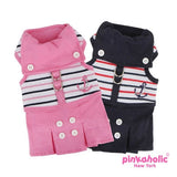 "Pinkaholic NY ""Middy Flirt Harness Dress"" in Navy Nautical Stripe - Daisey's Doggie Chic - 4"