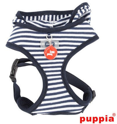 Crabby Beach Party Blue Hooded Choke-Free Halter Harness with Smart Tag - Daisey's Doggie Chic - 1