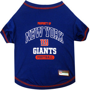 New York GIANTS  NFL dog T-Shirt in color Blue - Daisey's Doggie Chic - 1