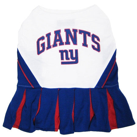 New York GIANTS  NFL dog Cheerleader Dog Dress - Daisey's Doggie Chic - 1