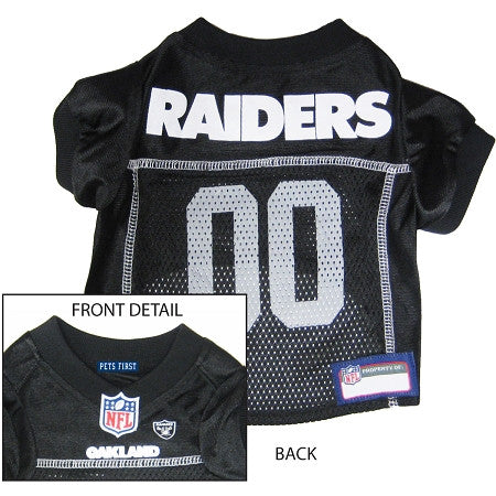 Oakland RAIDERS  NFL dog Jersey in color Black - Daisey's Doggie Chic