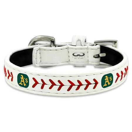 Oakland A's Athletics  MLB Leather Collar - Daisey's Doggie Chic