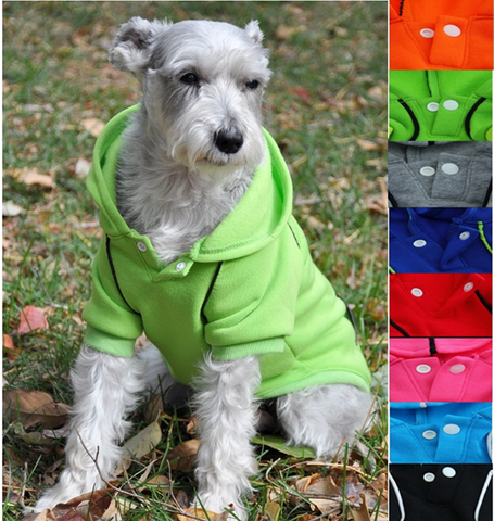 Fleece Lined Sport Sweatshirt Hoodie for Dogs in 8 Designer Colors - Daisey's Doggie Chic - 1