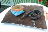 "Jennifer Brooks LLC ""Zip Tote"" Portable Dog Bed in Color Bay Brown - Daisey's Doggie Chic"
