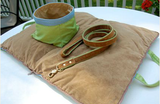 "Jennifer Brooks LLC ""Zip Tote"" Portable Dog Bed in Color Parrot Green - Daisey's Doggie Chic - 4"