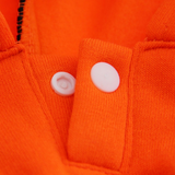 Fleece Lined Sport Sweatshirt Hoodie for Dogs in Color Bright Orange - Daisey's Doggie Chic