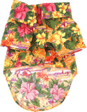 Camp Shirt in color Hawaiian Hibiscus Sunset - Daisey's Doggie Chic