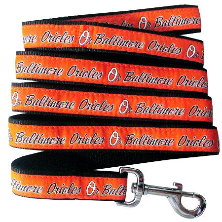 Baltimore ORIOLES  MLB Nylon Leash - Daisey's Doggie Chic