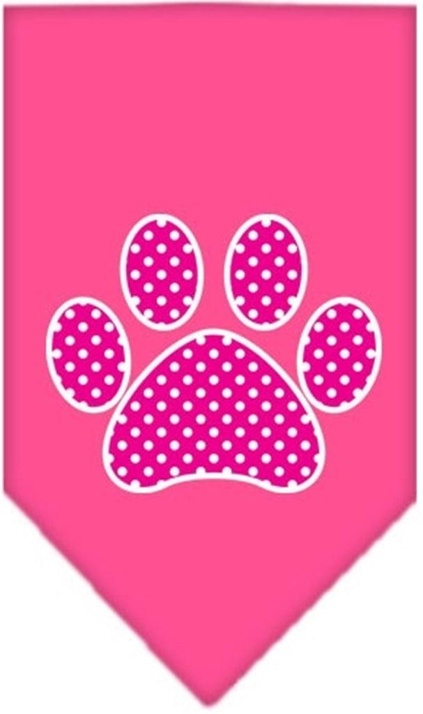 Pink Awareness Pretty Paw Bandana Scarf in color Bright Pink - Daisey's Doggie Chic - 1