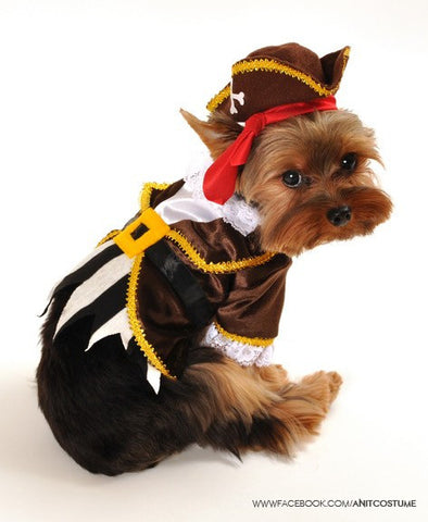 "Pirate "" Seadog Captain"" Dog Costume - Daisey's Doggie Chic"