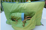"Jennifer Brooks LLC ""Zip Tote"" Portable Dog Bed in Color Parrot Green - Daisey's Doggie Chic - 5"