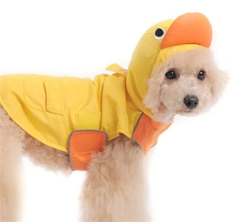 Yellow Duckie Duck Themed Raincoat for Dogs - Daisey's Doggie Chic