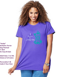 Yorkie Dog pet Themed Crewneck T-Shirt – I Rather Go Yorkieling logo - Adult (Unisex) Sizes 3XL,4XL,5XL in 19 colors - Daisey's Doggie Chic
