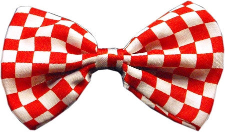 Super Fun & Festive Bow Tie for Small Dogs in Red Checker - Daisey's Doggie Chic