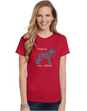Yorkie pet Theme Crewneck T-Shirt - Rather Go Yorkie-ling logo - Adult (Unisex) Sizes S,M,L,XL,2XL in 19 colors - Daisey's Doggie Chic