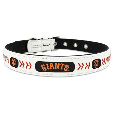 San Francisco GIANTS  MLB Leather Collar - Daisey's Doggie Chic