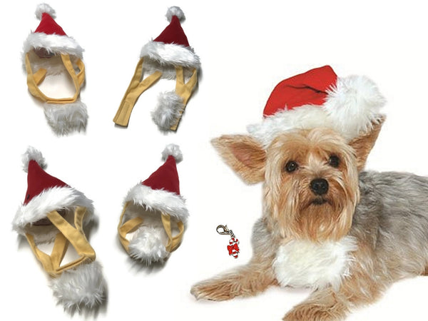c9f0f187527a6 Plush Charmed Santa Hat with Attached Beard for Dogs - Sizes XS-L –  Daisey s Doggie Chic