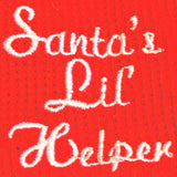 Santa's Little Helper Thermal Long John Pajamas in color Red - Daisey's Doggie Chic