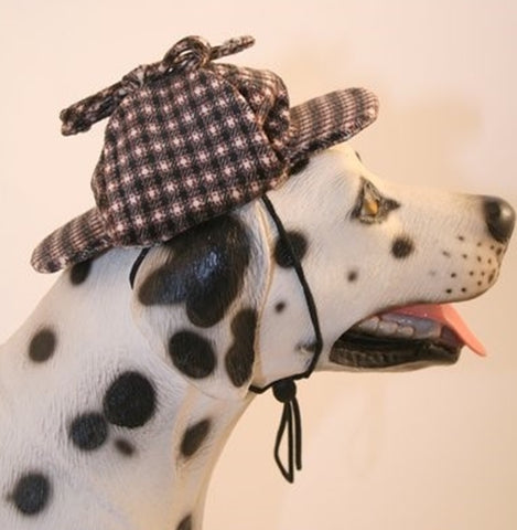 25fc9c840d2 ... Deluxe Sherlock Bones (Holmes) Tweed Costume Coat with Hat - Daisey s  Doggie ...