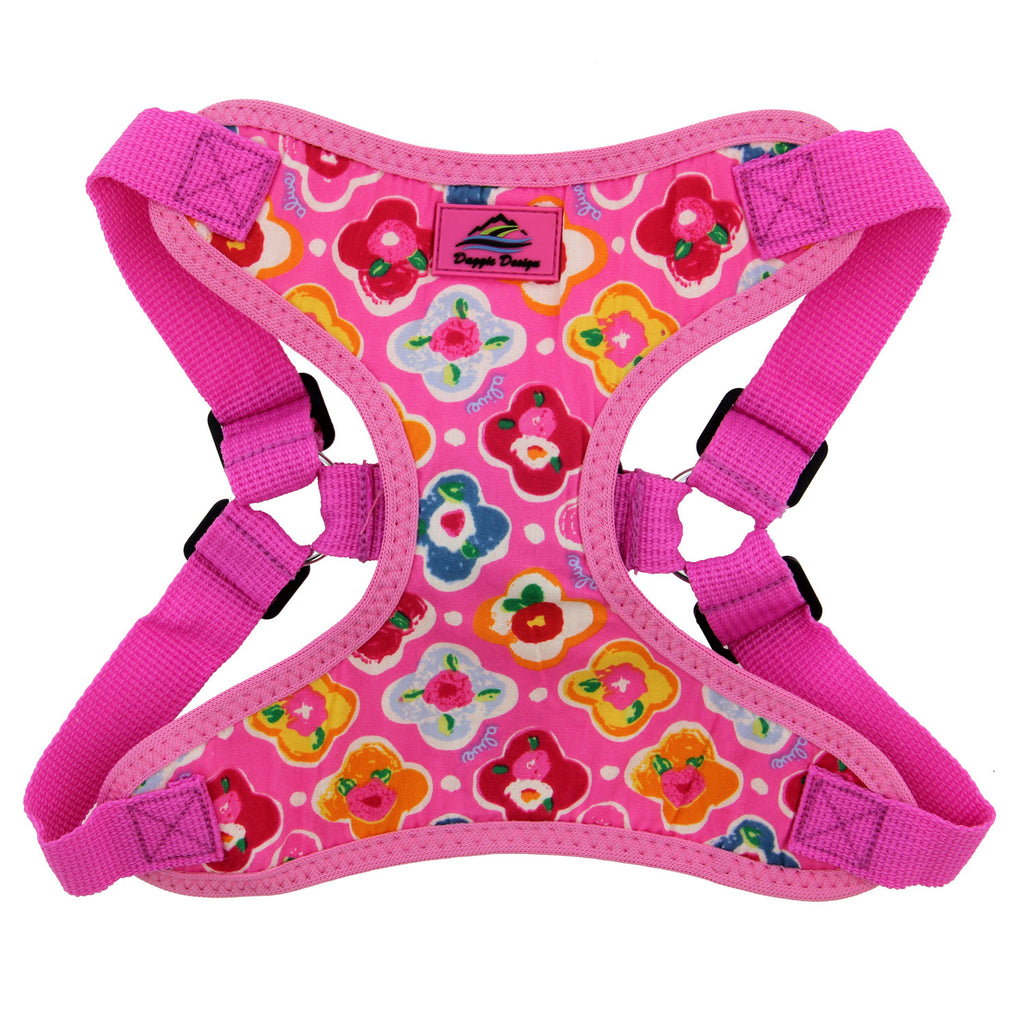 Wrap-Snap-n-Go  Choke-Free Harness in Maui Pink - Daisey's Doggie Chic