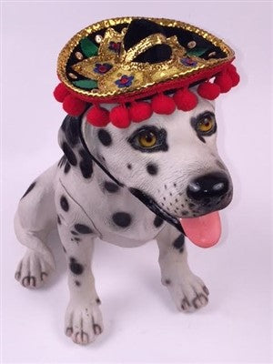 Pom Pom Mariachi Sombrero Hat for Dogs (Patterns Vary) - Daisey's Doggie Chic