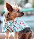 Camp Shirt in color Hawaiian Surfboards & Palms - Daisey's Doggie Chic