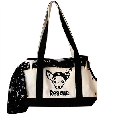 """Rescue Boat"" Pet Flys Designer Pet Carrier Tote - Daisey's Doggie Chic"