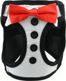 Tuxedo Styled Ultra Choke Free Step-in Harness Vest with 4 Detachable Bow Ties