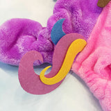 Cute Plush Unicorn Costume Pajama Coat for Dogs - Color Pink Multi in 5 Sizes - Daisey's Doggie Chic