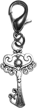 Fancy Filigree Victorian Key Clip Charm - Daisey's Doggie Chic