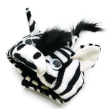 Plush Zebra Hat with Mane and Tail - Includes Charm Accessory - Pet Sizes XS to XL - Daisey's Doggie Chic
