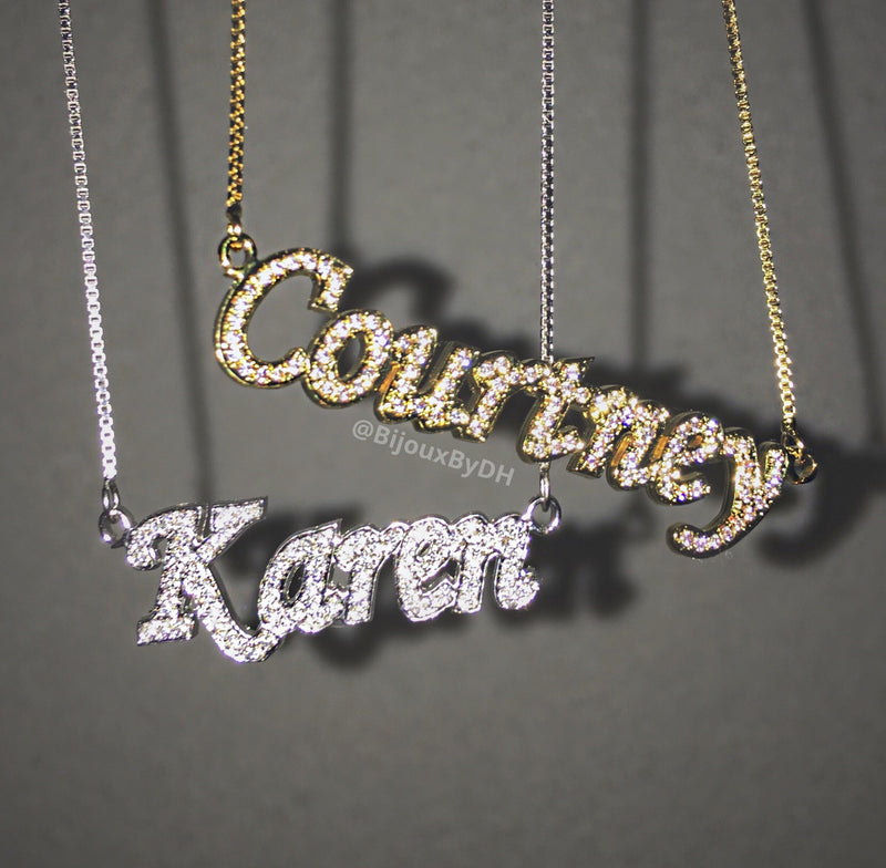 Diamond/CZ Name Necklace