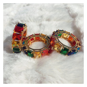 Limited Edition- Rainbow Baguette Ring