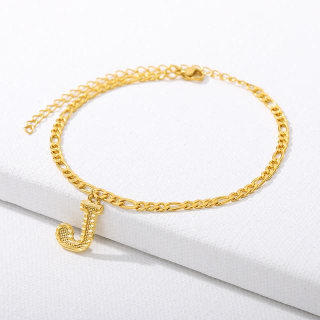 18k Gold Retro 90's Anklet