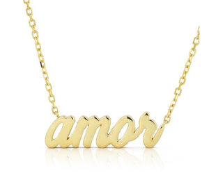 Thin Script Necklace