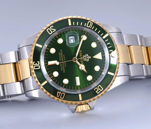 Men's Stainless Steel Green-Face Quartz Reginald